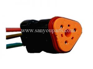 SY KE017 PC200 7 mottor assy plug 3line 300x225 - PC200-7  Trottle Motor plug (3 Line)